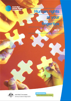 Front cover of the Human Rights at your fingertips pocket guide