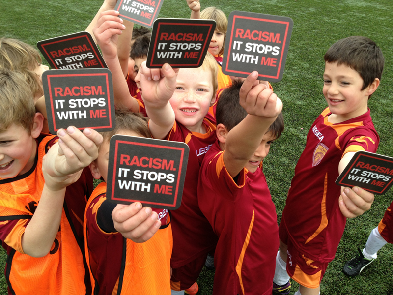 Children with Racism. It Stops With Me stickers
