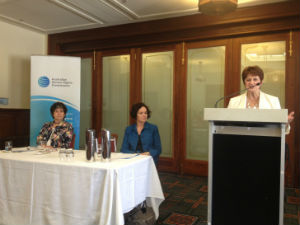 Age Discrimination Commissioner Susan Ryan speaking at the event