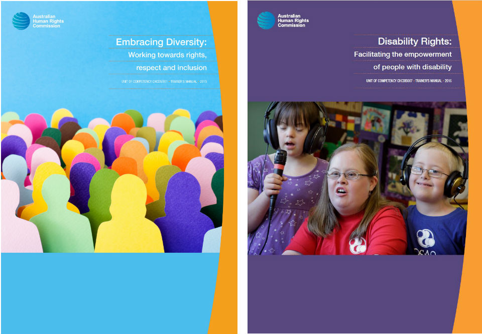 Covers of the two AHRC vocational education resources