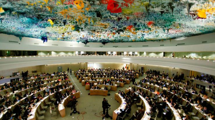 United Nations in Geneva in session.