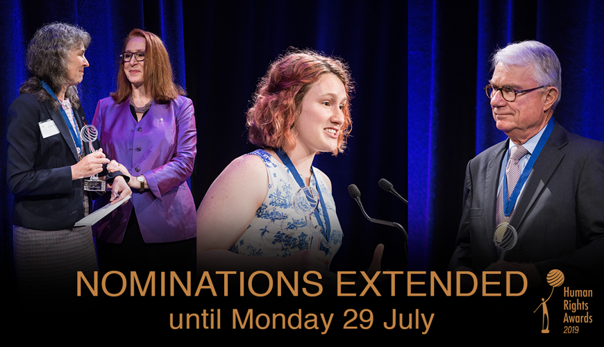 Nominations Extended until 29 July 2019