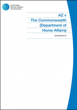 Cover of AZ v The Commonwealth (2018)