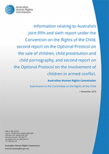 Cover of report to UN CRC