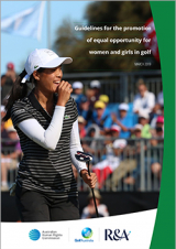 Cover of the 2019 golf guidelines - Céline Boutier, winner of the 2019 Vic Open.