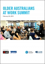 Older Australians at Work Summit - February 2015 report cover