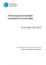 Free and equal: An Australian conversation on human rights - Issues Paper